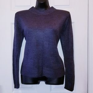 Sag Harbor Sweaters - Sag Harbor Soft, Navy Blue Sweater M